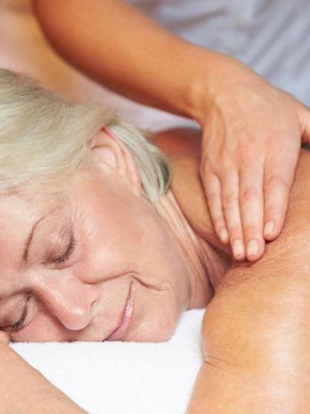 blid massage især for ældre eller syge